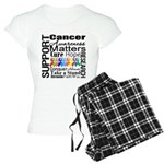 Support All Cancers Women's Light Pajamas
