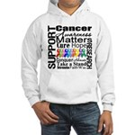 Support All Cancers Hooded Sweatshirt