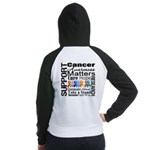 Support All Cancers Women's Raglan Hoodie