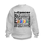 Support All Cancers Kids Sweatshirt