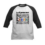 Support All Cancers Kids Baseball Jersey