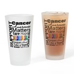 Support All Cancers Drinking Glass