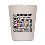 Support All Cancers Shot Glass