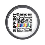 Support All Cancers Wall Clock