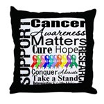 Support All Cancers Throw Pillow