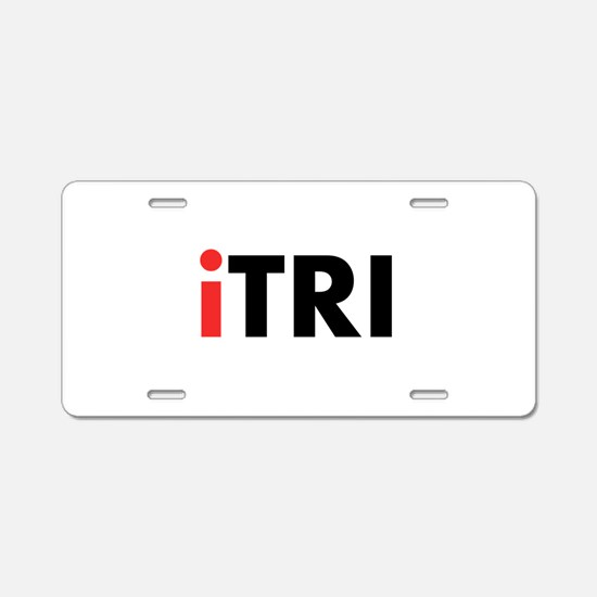 iTRI Triathlon Aluminum License Plate
