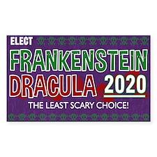 Frankenstein Dracula 2020 Sticker (Rectangle)