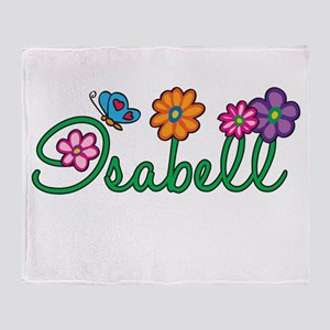 Isabell Flowers Throw Blanket