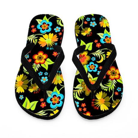 Black Spring Flip Flops