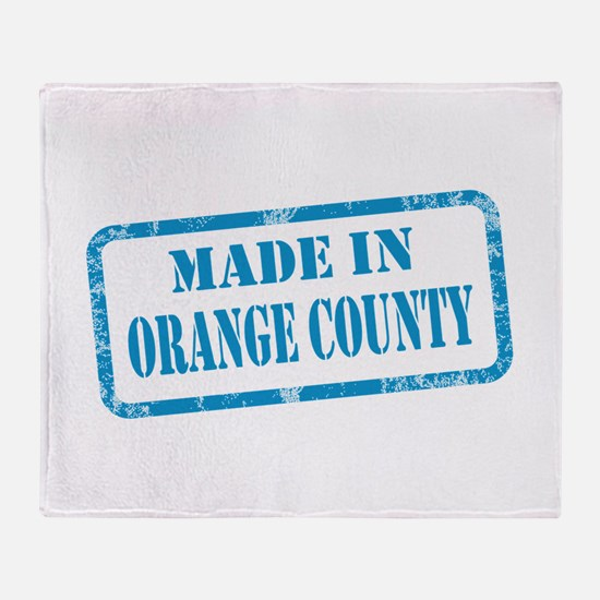 MADE IN ORANGE COUNTY, CA Throw Blanket
