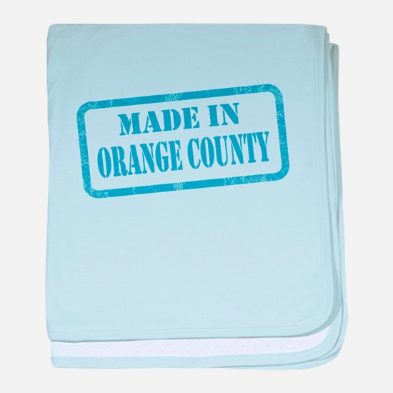 MADE IN ORANGE COUNTY, CA baby blanket