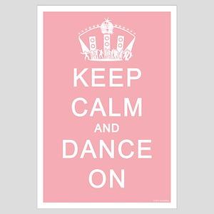 Keep Calm and Dance On (Blue)
