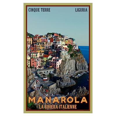 Manarola Town Poster