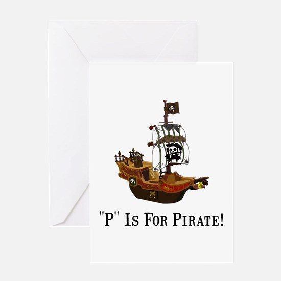 P Is For Pirate Greeting Card