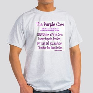 Purple Cow / Poem Ash Grey T-Shirt