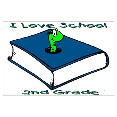 Bookworm 2nd Grade Framed Print
