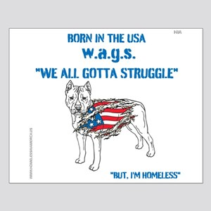 HIA Dog Flag design Small Poster