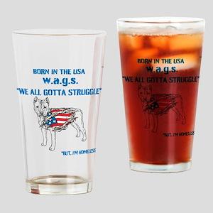 HIA Dog Flag design Drinking Glass
