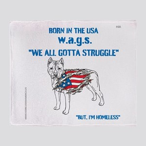 HIA Dog Flag design Throw Blanket