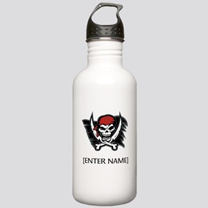 Pirate Flag Personalize! Stainless Water Bottle 1.