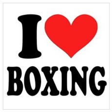I Heart Boxing Poster