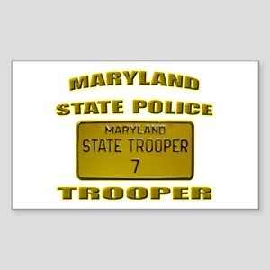 Maryland State Police Sticker (Rectangle)