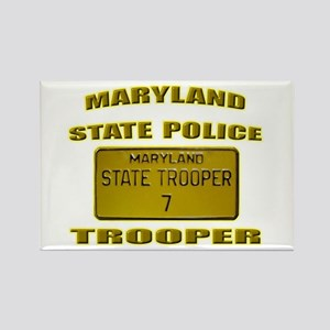 Maryland State Police Rectangle Magnet
