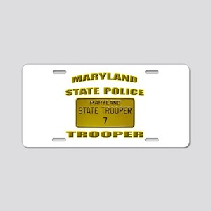 Maryland State Police Aluminum License Plate