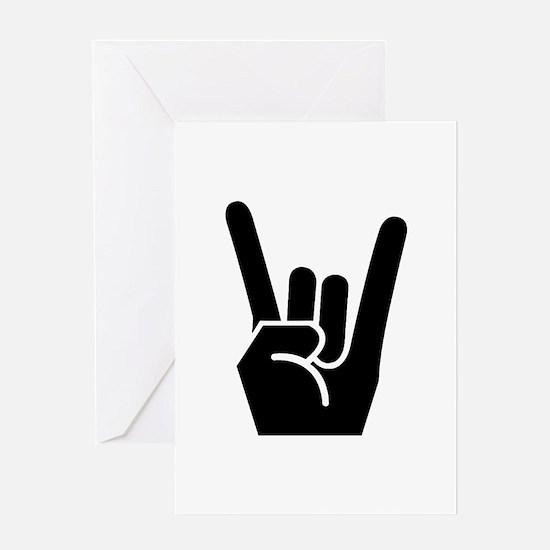 Rock Finger Symbol Greeting Card