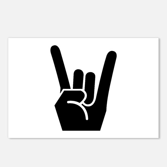 Rock Finger Symbol Postcards (Package of 8)