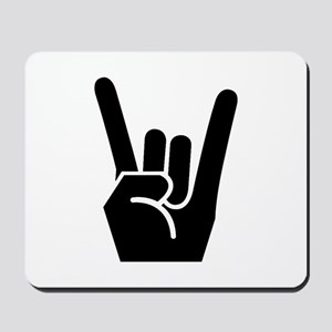 Rock Finger Symbol Mousepad