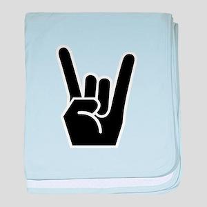 Rock Finger Symbol baby blanket