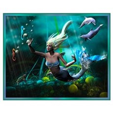 Best Seller Merrow Mermaid Framed Print