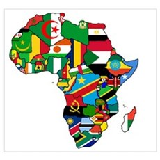 Flags of Africa Canvas Art