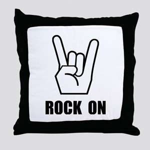 Rock On Sign Throw Pillow