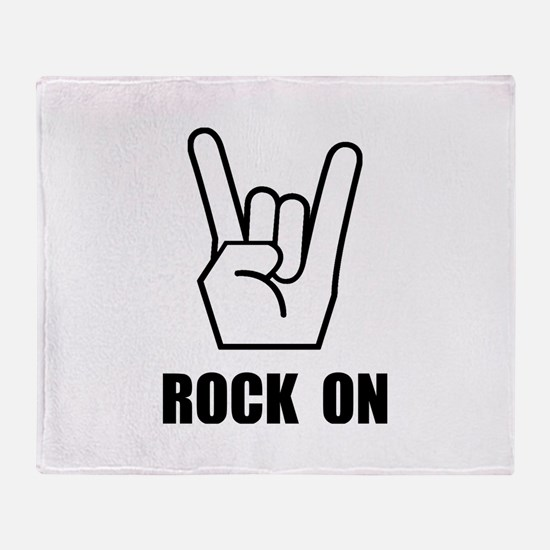 Rock On Sign Throw Blanket
