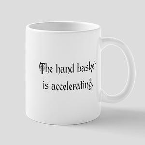hand basket accelerating Mug