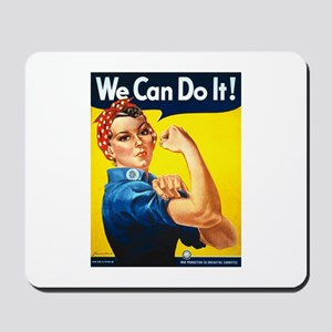 Rosie We Can Do It Mousepad