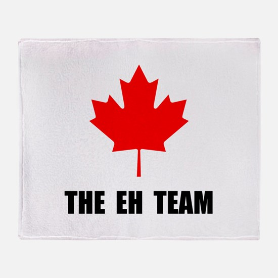 Canada The Eh Team Throw Blanket