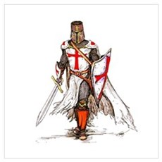 Templar Knight Canvas Art