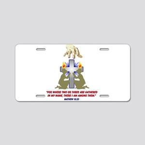 Jesus Among Us Aluminum License Plate
