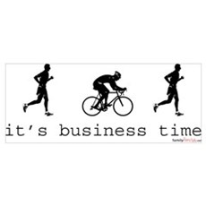 It's Business Time Duathlon Canvas Art