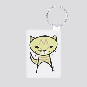 Tabby Cat Aluminum Photo Keychain