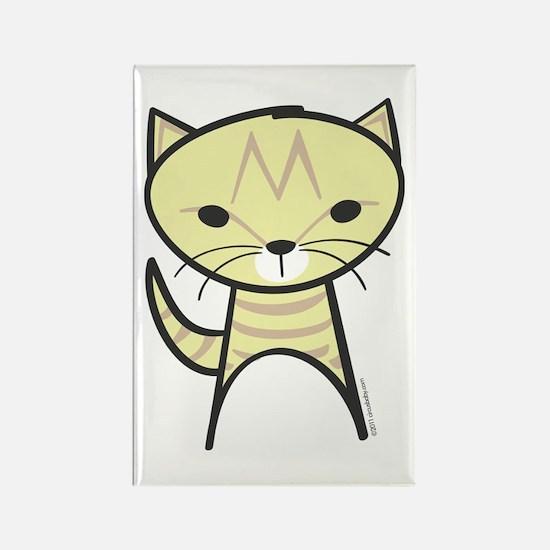 Tabby Cat Rectangle Magnet