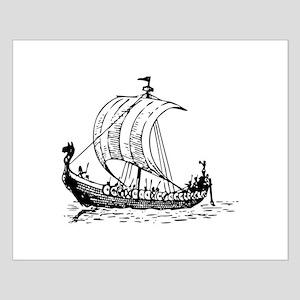 Viking Ship Small Poster