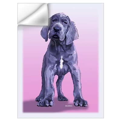 Blue Great Dane Puppy Painting Wall Decal