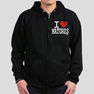 I love Matures Zip Hoodie (dark)