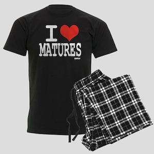 I love Matures Men's Dark Pajamas