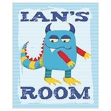 Ian's ROOM Mallow Monster Poster