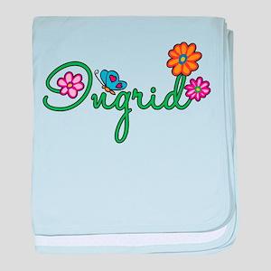 Ingrid Flowers baby blanket